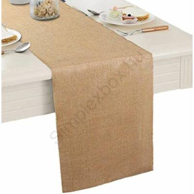 Rusztikus juta asztali futó 40x220 cm