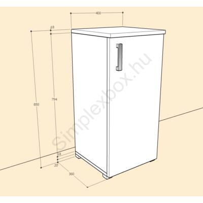 BIA850AK Bianka 2 polcos 1 ajtós szekrény