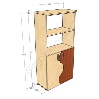 KATA1650AAH Kata-H 4 polcos alsó ajtós szekrény