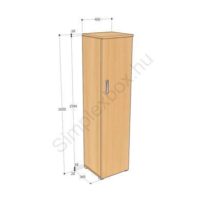 KATA1650AK Kata 4 polcos 1 ajtós szekrény