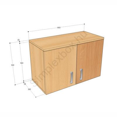 KATA500F Kata 2 polcos felső szekrény elem