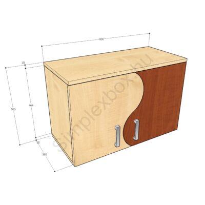 KATA500FH Kata-H 2 polcos felső szekrény elem