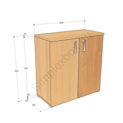 KATA850AS Kata 2 polcos 2 ajtós szekrény