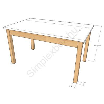 óvodai, bölcsődei asztal